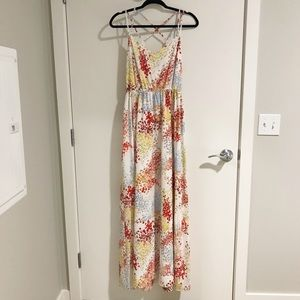 Strappy Floral Maxi Dress